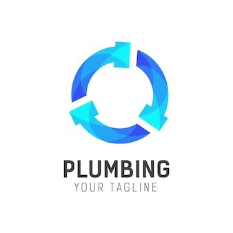 Modello di progettazione logo idraulico