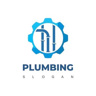 Modello di progettazione del logo dell'impianto idraulico