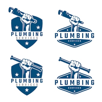 Modello di logo dell'impianto idraulico