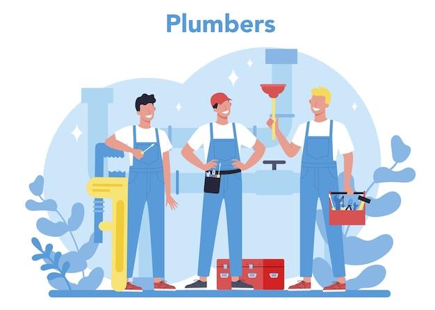 Concetto di servizio idraulico