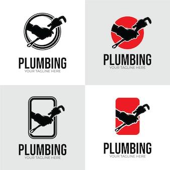 Progettazione del logo del servizio idraulico ispirazione