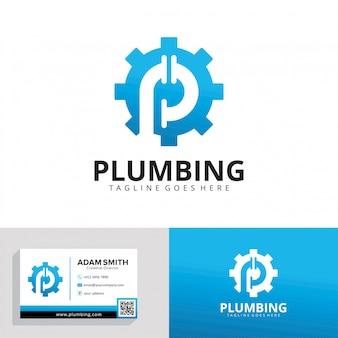 Modello di logo di servizio idraulico