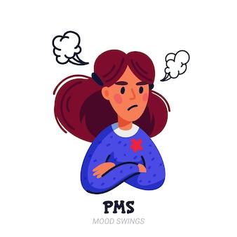 Concetto di sintomi della sindrome premestruale
