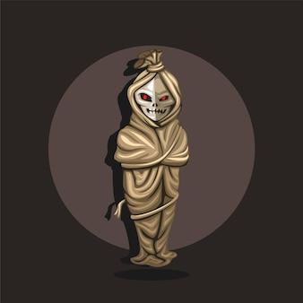 Fantasma della leggenda urbana di pocong dall'asia