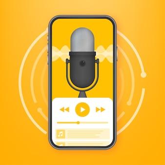 Illustrazione di app podcast