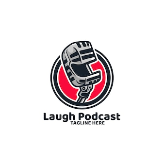 Podcast broadcast mic logo di registrazione delle notizie