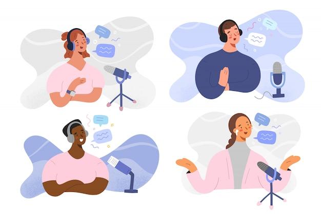 Podcast ospita programmi di registrazione, personaggi dei cartoni animati