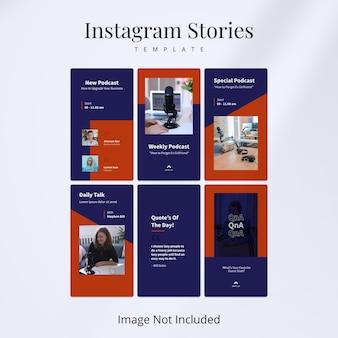 Modello podcast instagram stories