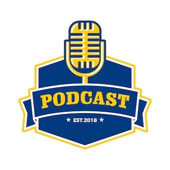 Modello di logo podcast