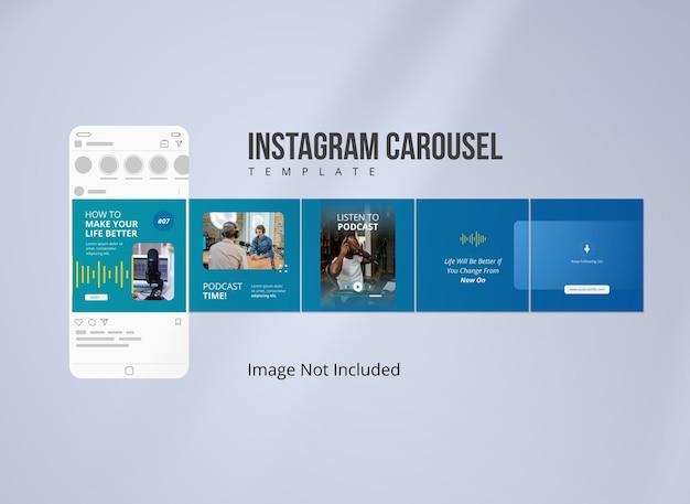 Podcast musica instagram carousel post
