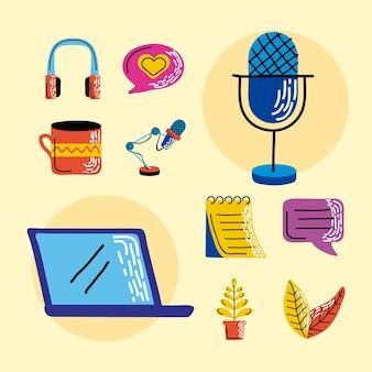 Raccolta di simboli podcast