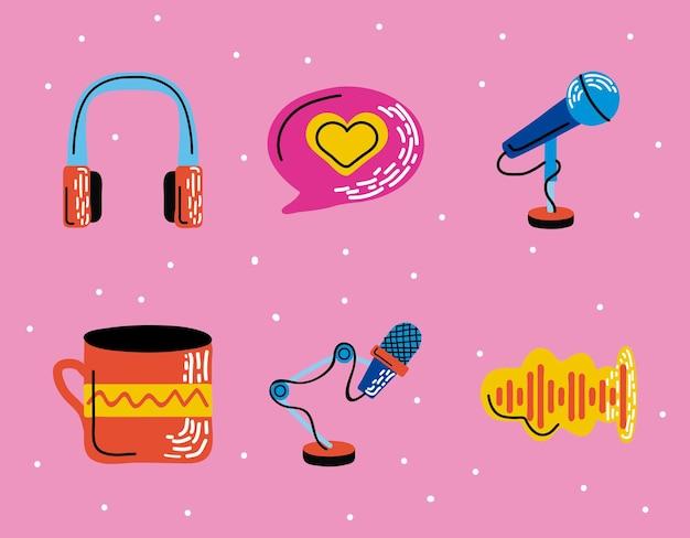 Set di simboli podcast