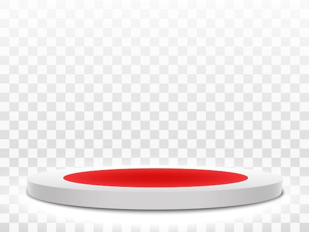Illustrazione vettoriale di effetto luce podio