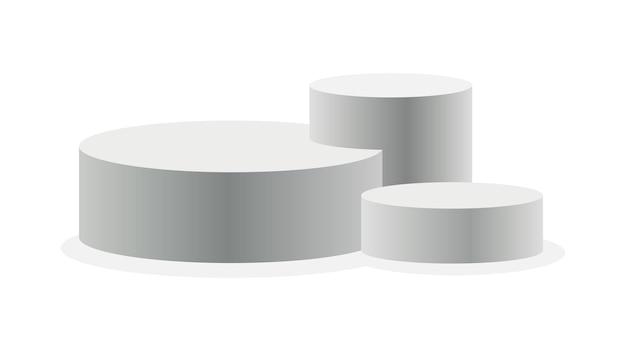 Podio design realistico del piedistallo