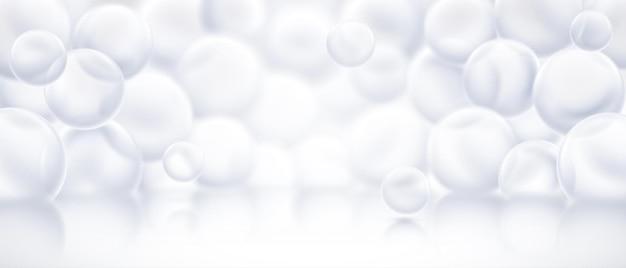 Palco del podio con design 3d di bolle di sapone
