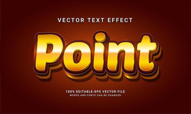 Effetto di stile di testo modificabile punto 3d