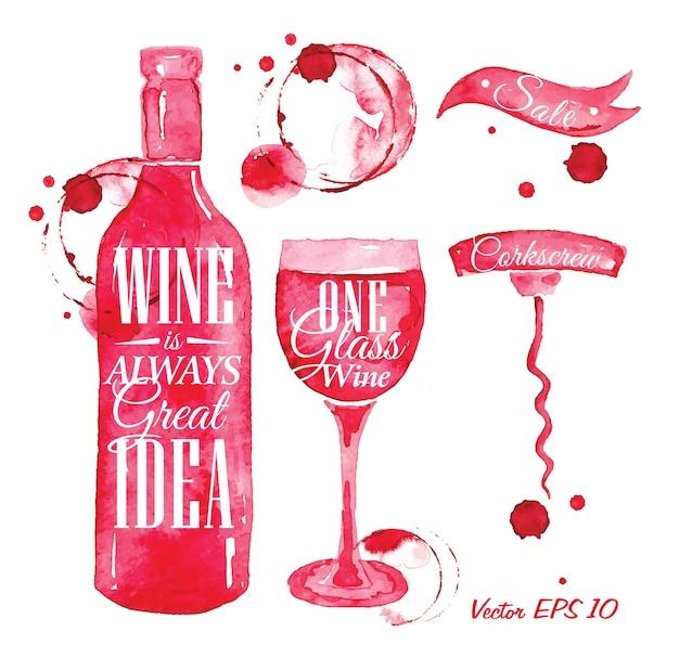 Puntatore disegnato versare vino