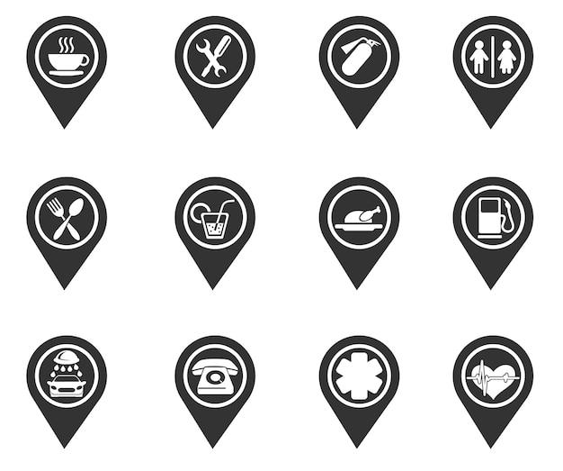 Puntatore per una mappa o un diagramma
