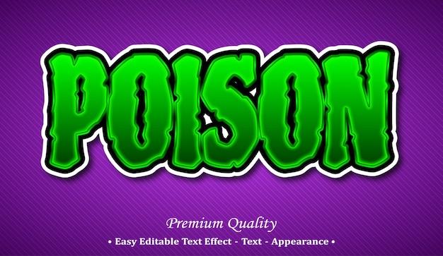 Effetto di stile di testo modificabile 3d veleno