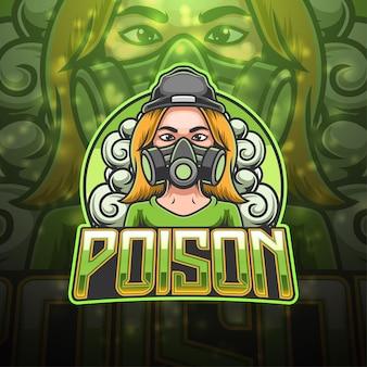 Design del logo mascotte di veleno esport