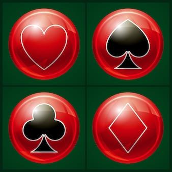 Pulsante del casinò di poker