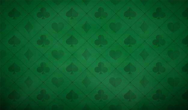 Tavolo da poker sfondo in colore verde.
