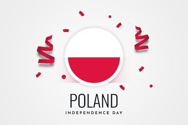 Progettazione del modello di giorno dell'indipendenza nazionale della polonia