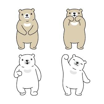 Personaggio dei cartoni animati di orso polare