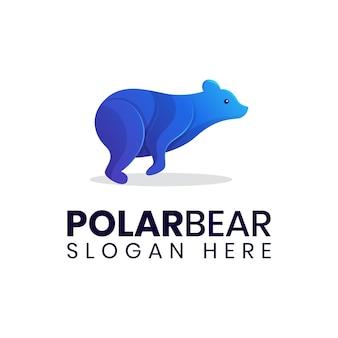 Modello di logo di salto dell'orso polare