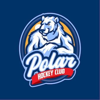 Logo della mascotte dell'orso polare per esports e squadra sportiva