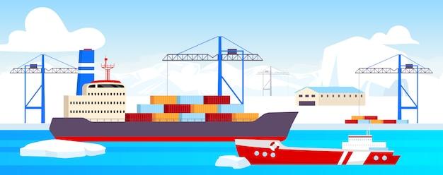 Illustrazione del cantiere navale polare