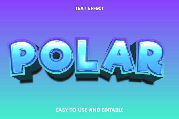 Effetto di testo polare, testo modificabile.