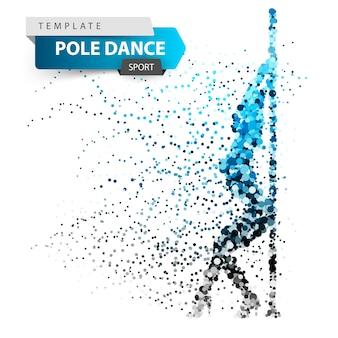 Pole dance, exotic, striptease - dot illustration