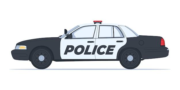 Auto della polizia - disegno vettoriale