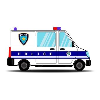 Vettore di auto della polizia su sfondo bianco