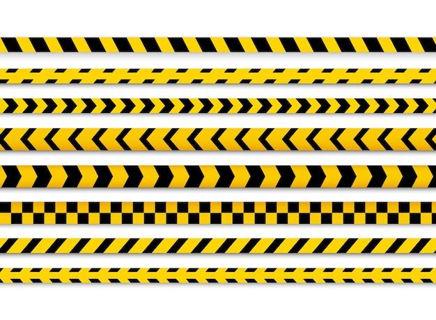 Linea di pericolo cautela della polizia.