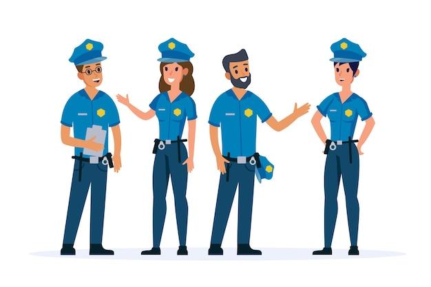 Pack di agenti di polizia