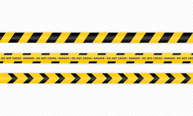 Icona della striscia della polizia o non attraversare o zona pericolosa e incidente