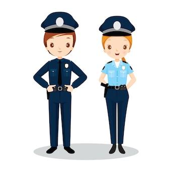 Poliziotto e poliziotta