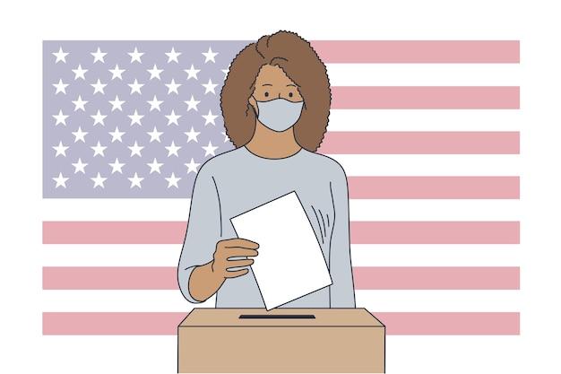Politica, elezione, usa, concetto di voto.