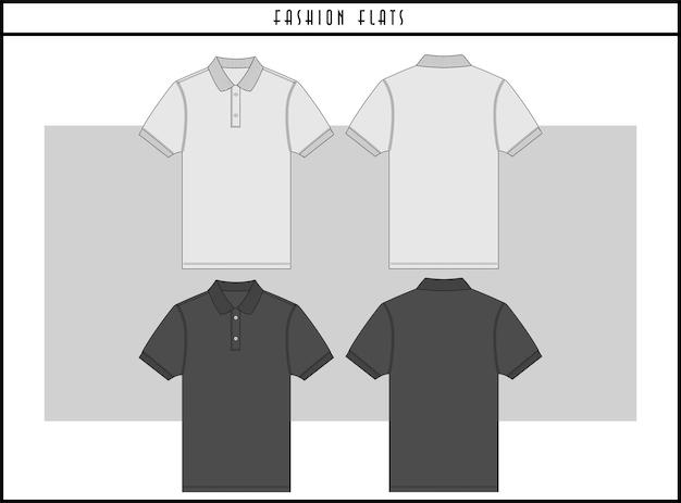 Design piatto dell'illustrazione di moda polo
