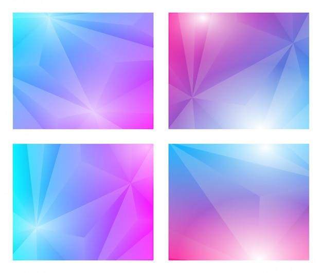 Set di sfondo geometrico poligonale