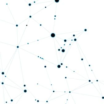 Fondo astratto poligonale con linea e punti collegati.