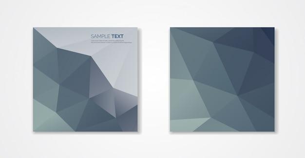 Design di copertine poligonali. modello geometrico minimale