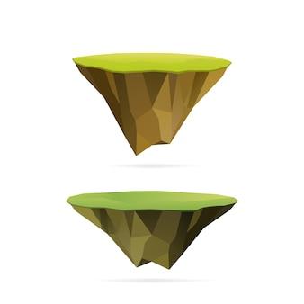 Isole galleggianti poligonali, isolate