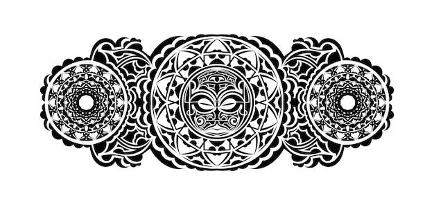 Avambraccio tribale del modello tribale della manica del polso del tatuaggio polinesiano. vettore di ornamenti modello etnico.