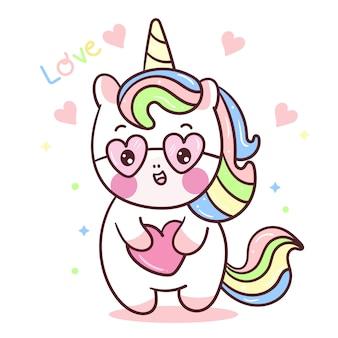 Pony hug cuore disegnare a mano
