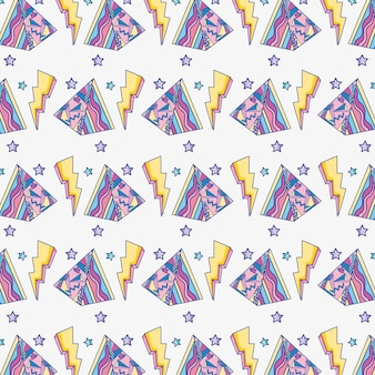 Raggi e triangoli di sfondo pop art