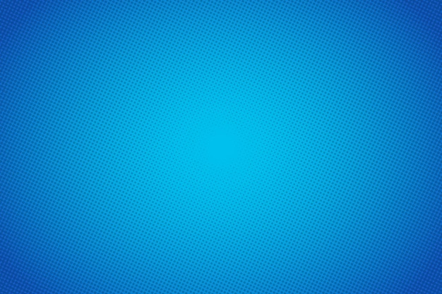 Fondo blu di vettore del fumetto di pop art. progettazione di punti mezzatinta sfondo astratto. illustrazione di arte pop.