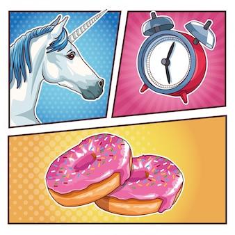 Cartoni animati pop art